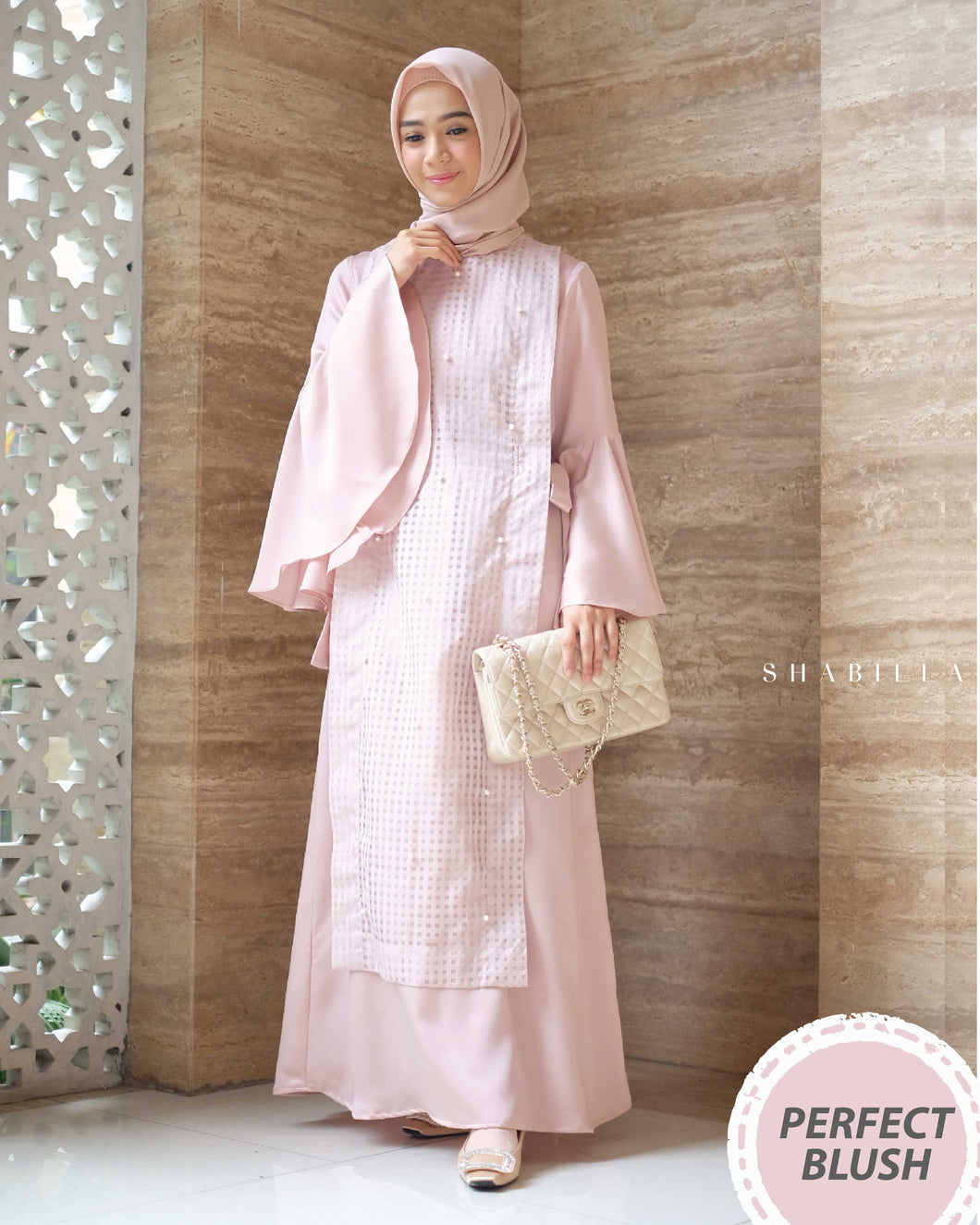 SHABILLA DRESS - PERFECT BLUSH