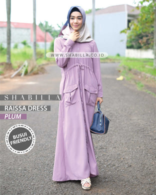 RAISSA DRESS - PLUM