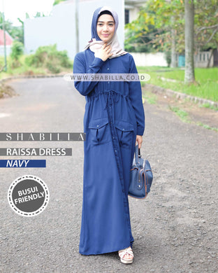 RAISSA DRESS - NAVY