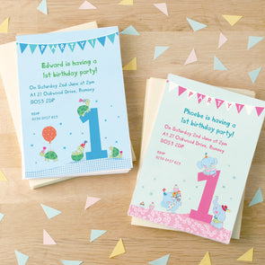 Personalised First Birthday Children's Party Invitations