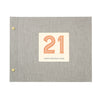 Typographic 21st Birthday Cloth Bound Photo Album With Box