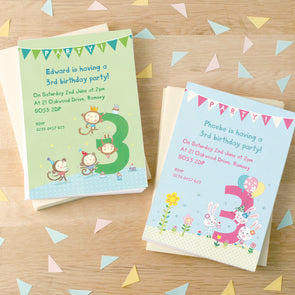Personalised Third Birthday Children's Party Invitations