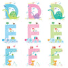 Personalised Child's Name and Initial Mounted Print