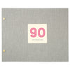 Typographic 90th Birthday Cloth Bound Photo Album With Box