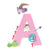 Personalised Illustrated Letter A Writing Set