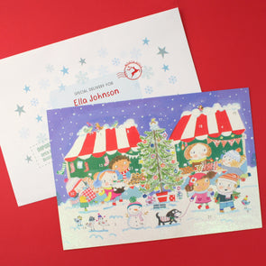 Personalised Christmas Market Advent Calendar