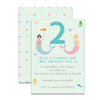 Personalised Mermaid Children's Birthday Invitations