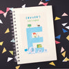 Personalised Illustrated Alphabet Letter E Children's Notebook