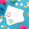 Personalised children's thank you cards with child's initial