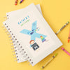 Personalised Illustrated Alphabet Letter X Children's Notebook
