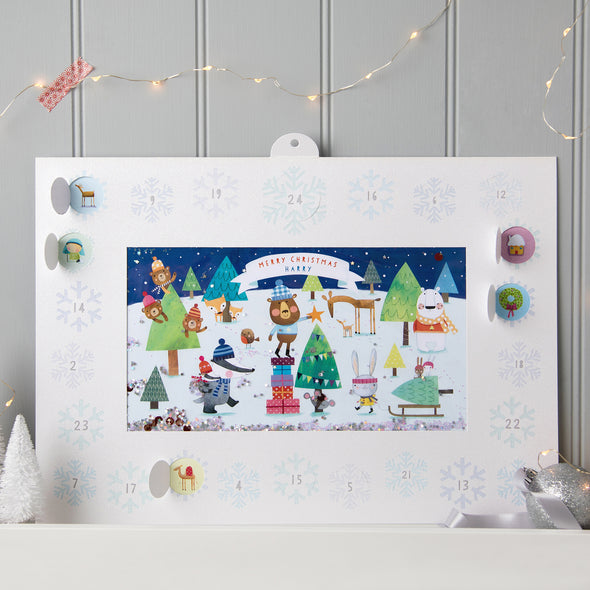 Personalised Shakies Animal Advent Calendar
