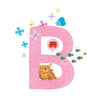 Personalised Illustrated Letter B Baby Photo Album