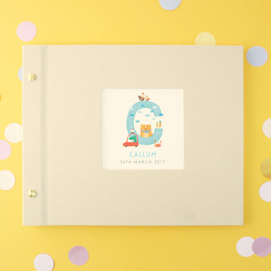 Personalised Illustrated Alphabet Baby Initial Photo Album