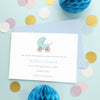 Personalised baby announcement cards in blue