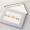 Personalised writing set with bunting illustration