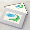 Personalised Children's Writing Set With Crocodile Design