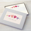 Personalised writing set with heart illustration
