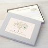 Personalised writing set with a tree design
