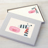 Personalised Children's Writing Set With Zebra Design