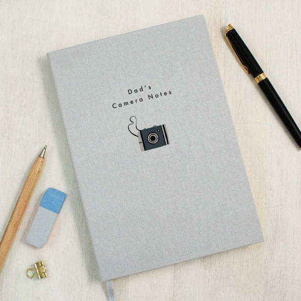 Personalised Camera A5 Cloth Bound Notebook