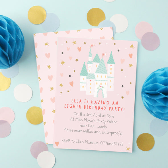 Personalised Castle Children's Invitations