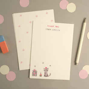 Personalised Cat Birthday Thank You Cards