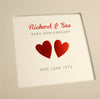 Personalised Ruby Wedding Anniversary Cloth Bound Photo Album