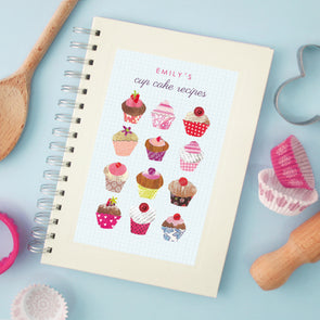 Personalised Cupcakes Cook's Wire Bound Recipe Notebook