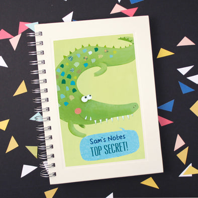 Personalised Crocodile Wire Bound Children's Notebook