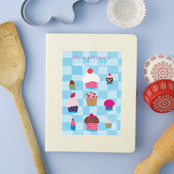 Personalised Cupcakes Hardback Lined Notebook