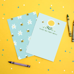 Personalised Daisy Children's Thank You Cards