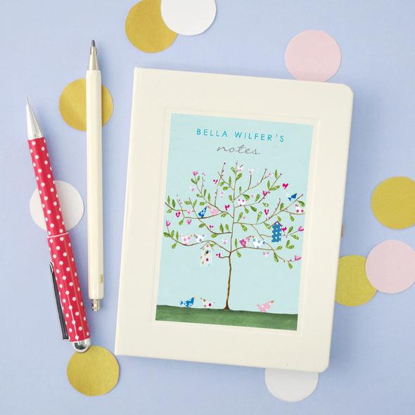 Personalised Tree Hardback Lined Notebook