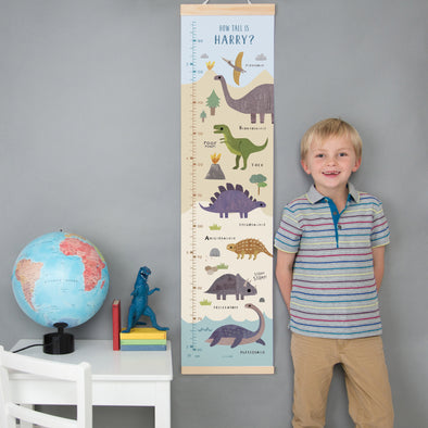 Personalised Dinosaur Landscape Height Chart