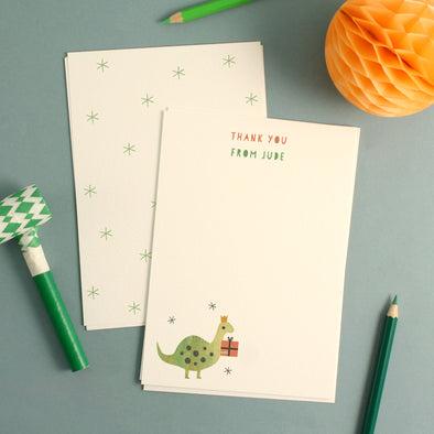 Personalised Dinosaur Birthday Thank You Cards