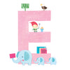 Personalised Illustrated Letter E Baby Photo Album