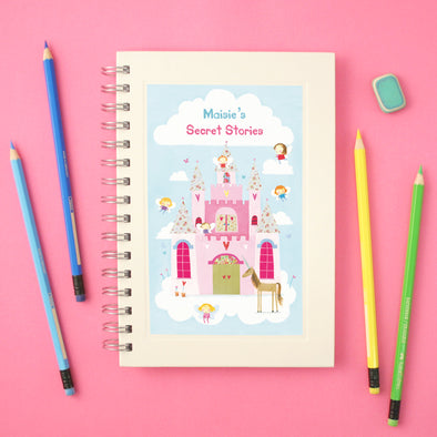 Fairy tale wire bound notebook for children