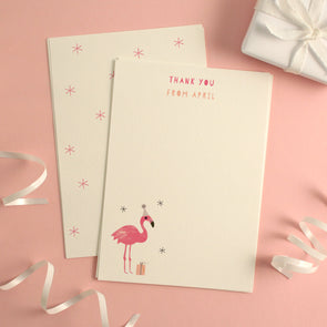 Personalised Flamingo Birthday Thank You Cards