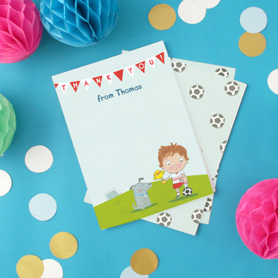Personalised Football Children's Thank You Cards