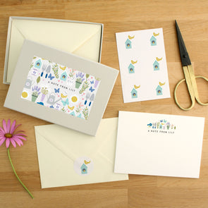 Personalised Gardening Pattern Writing Set