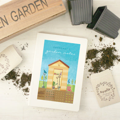 Personalised Gardening Notebook With Garden Shed Design
