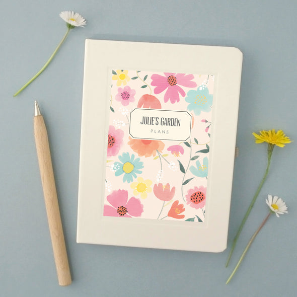 Personalised Gardener's Hardback Lined Notebook