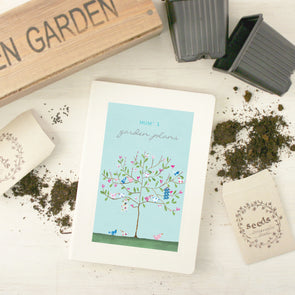 Personalised gardening notebook with tree design