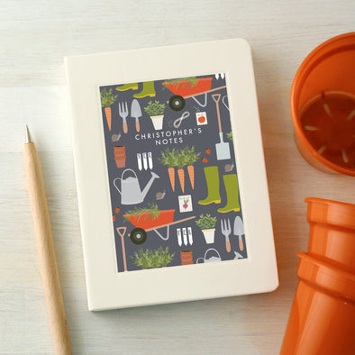Personalised Gardening Pattern Notebook