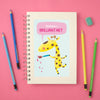 personalised children's drawing book with giraffe illustration
