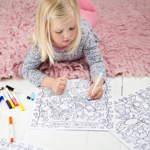 Personalised Fairy Tale Colouring Poster Set With Felt Tip Pens