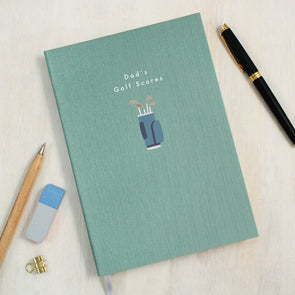 Personalised Golf Clubs A5 Cloth Bound Notebook