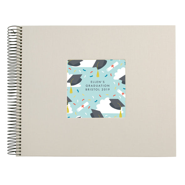 Personalised Graduation Pattern Spiral Bound Book