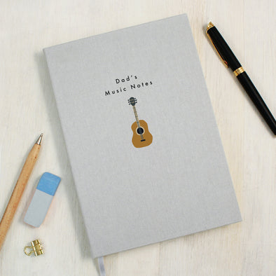 Personalised Guitar A5 Cloth Bound Notebook