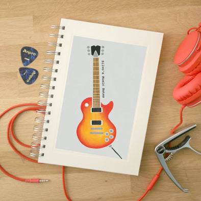 Personalised Guitar Wire Bound Music Notebook