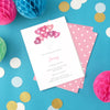 Hen party invitations with personalised text